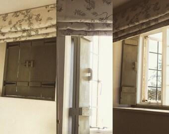 Wooden window frame, bi-fold window shutters, handmade, window shutters, made to measure window shutters, window dressing, shutter