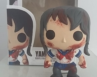 Yandere Chan Handmade pop toy (Made to order, ask me for a build time!)