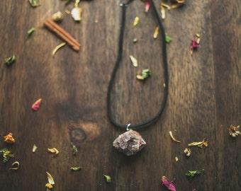 Smokey Quartz choker | leather choker | quartz choker | Handmade jewelry | New Mexico Quartz