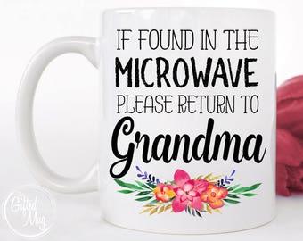 Return To Grandma Mug, Please Return To Grandma mug, Grandma Microwave Mug, Grandma Birthday Mug, Funny Grandma Mug