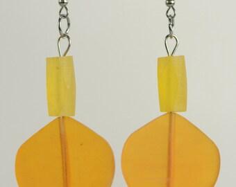 RR#50 - Golden Resin Earrings