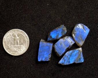 Labradorite Raw Stones 5 pcs lot