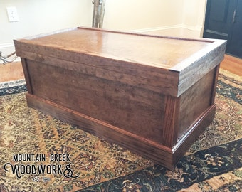 Wooden Blanket Chest, Rustic Wooden Chest, Rustic Wooden Trunk, Wooden Hope Chest, Wooden Storage Chest, Storage Trunk, Stained Hope Chest