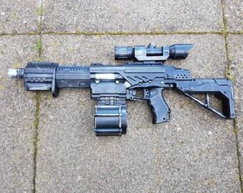 Star Wars ARC trooper Westar M5 blaster. Nerf Alphatrooper for cosplay.