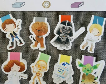 Classic Space Characters Magnetic bookmark Set