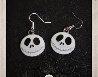 JACK earrings silver and enamel the nightmare before Christmas Jack BOA042 Mr