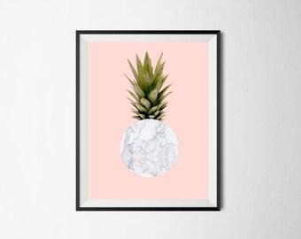 Marble Pineapple print