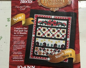 Holiday Tidings Quilt Blocks kit March 2000 by Jo-Ann fabrics
