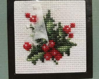 Counted cross stitch holly kit