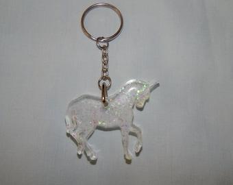 Handmade Resin Unicorn Keyring