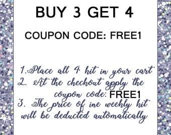 Weekly Sticker kit sale