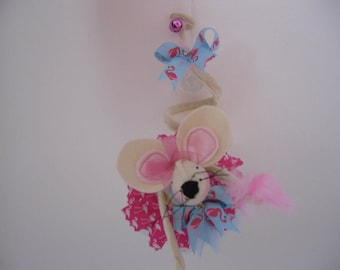 flamingo mouse doll