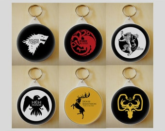 Game of Thrones Keyrings - Choose from 9 Designs