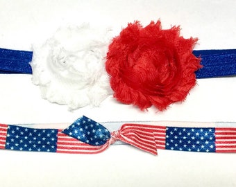 Red White and Blue Headband, Baby Headband, Fourth of July, Memorial Day
