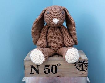 Plush Bunny - stuffed plush bunny rabbit - amigurumi - crochet Bunny - crochet - knit bunny rabbit stuffed toy - bunny vegan yarn