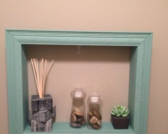"Shelf/ frame 16""x 20"" seafoam green"