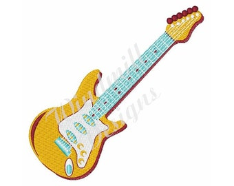 Electric Guitar - Machine Embroidery Design