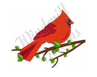 Cardinal Bird - Machine Embroidery Design