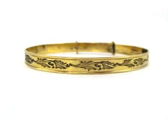 Beautiful Antique Gold Filled Bangle Bracelet