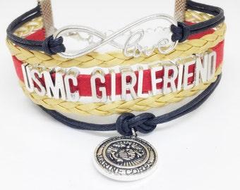 USMC Girlfriend, Marine Girlfriend Bracelet, Marine Corps Girlfriend, Marine Gift, USMC Gift, Marine Deployment, USMC Deployment, Marines