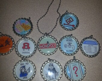 monopoly board game bottlecap necklace party favors for loot bag lot of 10
