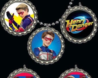 henry danger jace norman cute bottlecap necklace party favors for loot bag lot of 5