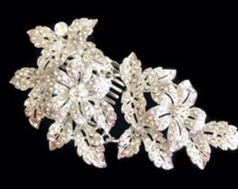 Bridal Headpiece, Hair Comb, Crystal Wedding Hair Accessories