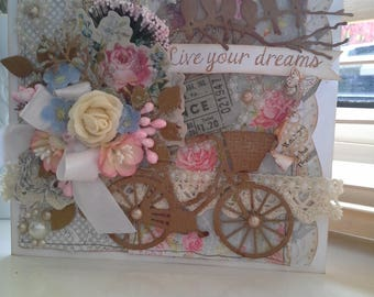 Shabby chic Live your dreams card