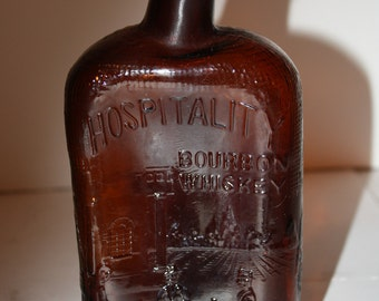 Very Unique Hospitality Bourbon Whiskey Picture Flask Disfigured Vancouver CA