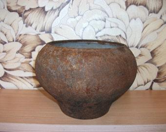 Vintage cast iron pot/ pot for oven/ cast iron cookware/ rustic tableware/ Russian pot/Farmhouse decor/Rustic home decor