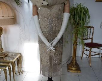 Charleston Dress, Flapper Dress, Antique Dress, Antique Gown, Evening Dress, Paris, ca. 1925