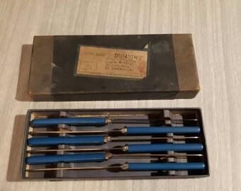 Vintage Butter Knives Blue Handles