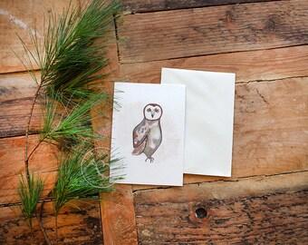 Watercolor Owl Postcard Set