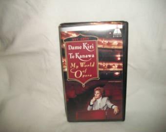 Dame Kiri Te Kanawa My World of Opera VHS Tape, Nvc Arts 1993