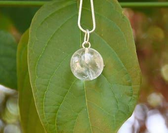 beautiful small clear quartz pendant ball