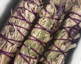 Lavender & Sage Smudge Sticks | Metaphysical Gifts | Spiritual | Ritual | Smudging Kit | Smudge Wand | Sage Bundle | Sage Stick | Saging