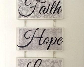 Faith Wall Decor faith hope love | etsy