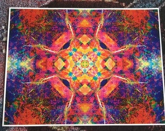 Papadosio Curve - Subatomic Particle Art Print- 15.5x12
