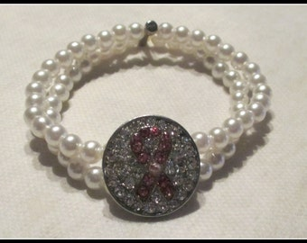 Breast Cancer Stretch Bracelet