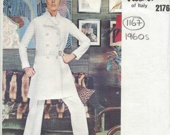 1969 Vintage VOGUE Sewing Pattern Dress Jacket  Pants  Top B36 (1167) Valentino
