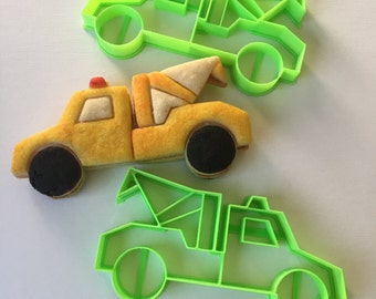 Tow Truck Cookie Cutter Set