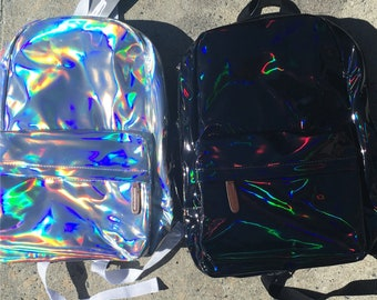 HOLOGRAPHIC iridescent BAG  school bag