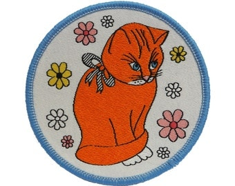 Hungry Cat Iron-on Patch