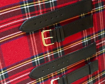 20mm Watch Straps In Black and Brown Genuine Leather