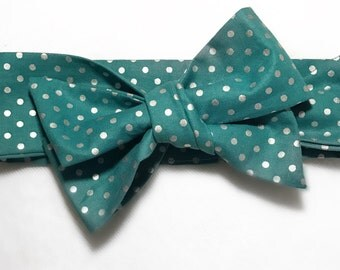 Teal and silver dot