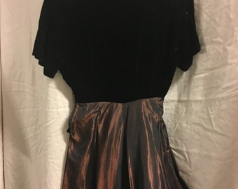 1940's black/brown Dress