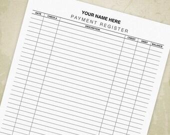 printable checkbook register form