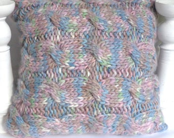 Pastel wool cushion