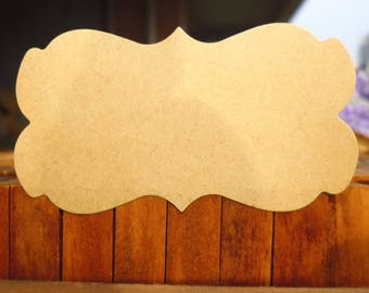 Tags/labels set 5 pieces 60 sheets of kraft paper
