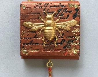 Copper bee ornament